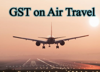 How GST applies on Air travel booking